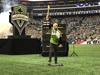 パール・ジャムのマイク・マクレディ 米プロサッカーMLSカップの試合前セレモニーでアメリカ国歌をギター演奏