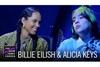 ビリー・アイリッシュとアリシア・キーズが米TV番組で共演 「Ocean Eyes」をデュエット