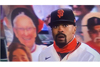 Ray Burton cutout at San Francisco Giants game (background)