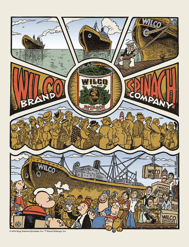 Wilco in a Popeye Cartoon