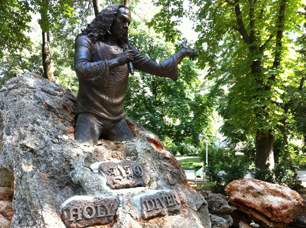 Ronnie James Dio's Statue in Kavarna