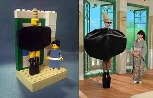 Lego Gaga comes from Japan.
