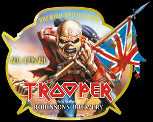TROOPER - A NEW PREMIUM BRITISH BEER FROM IRON MAIDEN AND ROBINSONS BREWERY