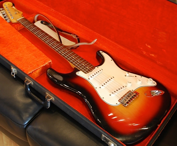 The Fender Stratocaster that Bob Dylan played at the 1965 Newport Folk Festival