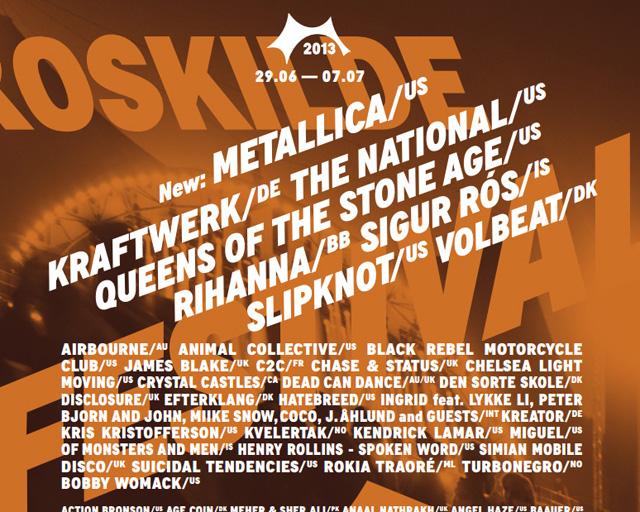 <Roskilde Festival>をライヴ・ストリーミング、7/5午前1時〜