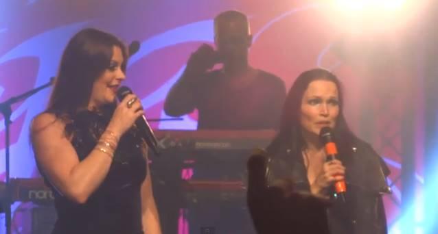 Tarja Turunen and Floor Jansen