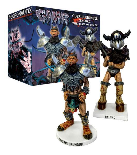GWAR Throbblehead Set: Oderus Urungus and Balsac The Jaws of Death
