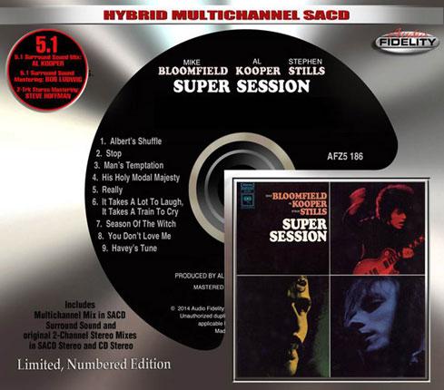 アル・クーパー+マイク・ブルームフィールド+スティーヴン・スティルスの『Super Session』 ハイブリッド・マルチチャンネルSA-CD再発