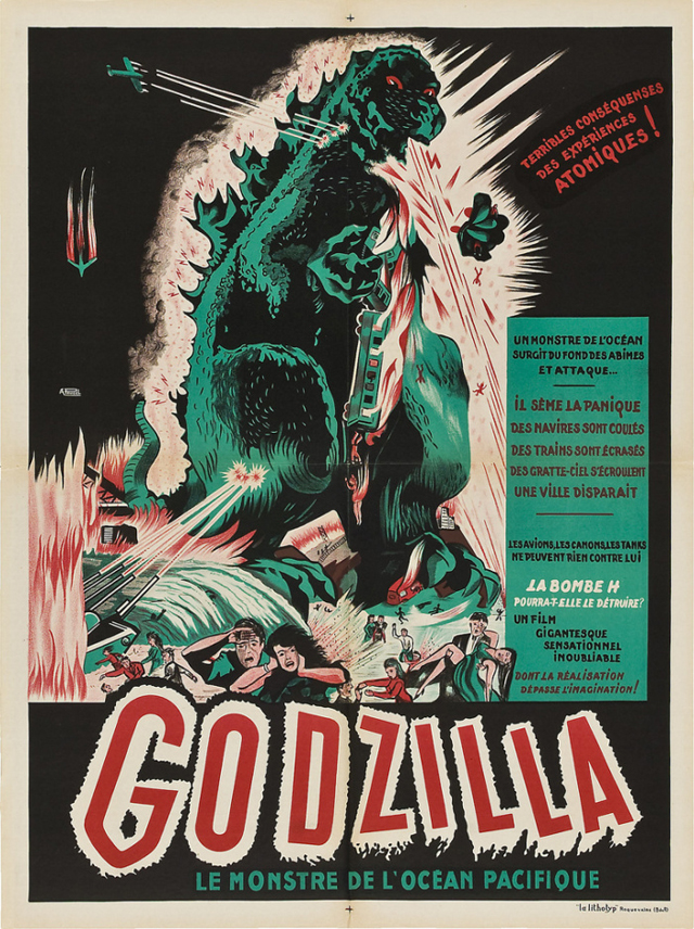 French release poster for the original Godzilla