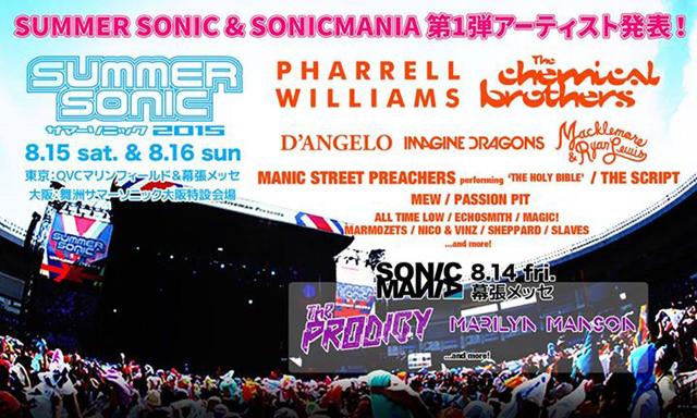 SUMMER SONIC 2015&SONICMANIA