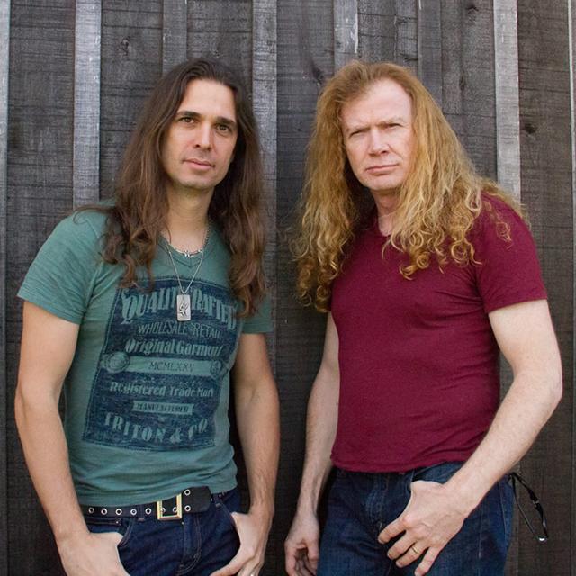 Dave Mustaine and Kiki Loureiro