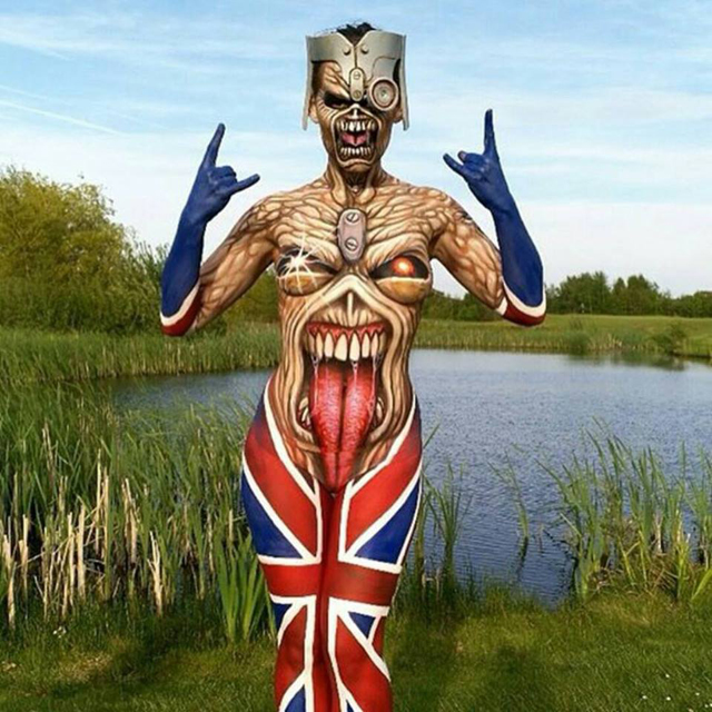Iron Maiden Eddie Body Paint