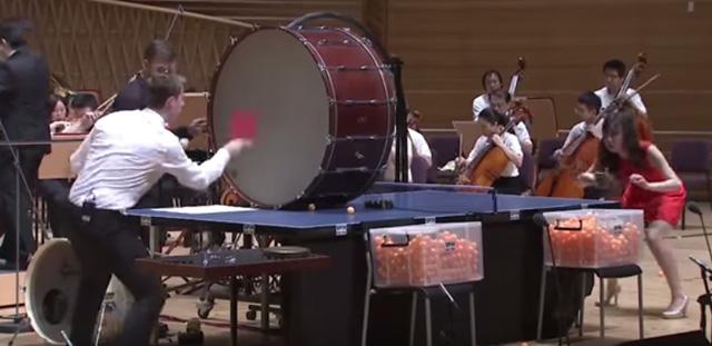 卓球選手とオーケストラが奏でる「ピンポン協奏曲」の演奏映像が話題に