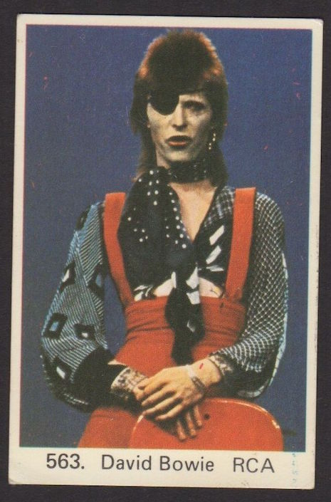 Swedish gum trading card of David Bowie