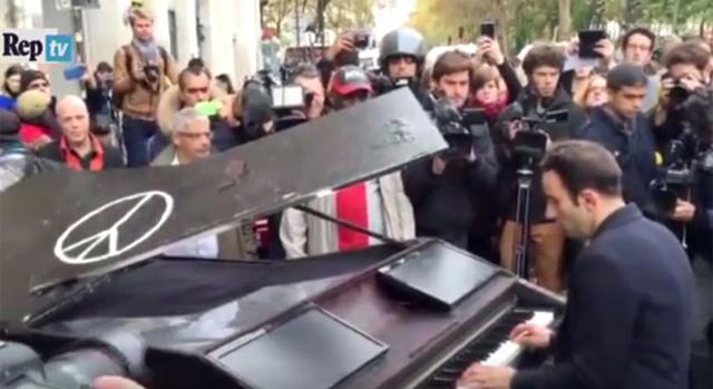 Pianist Cover John Lennon's 'Imagine' Outside Targeted Paris Concert Venue