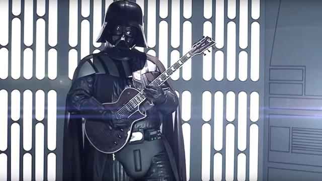 ダース・ベイダー、ストーム・トルーパー、ボバ・フェットらが参加するコスプレ・メタル・バンド銀河帝国が「スター・ウォーズのメイン・テーマ」のPVを公開