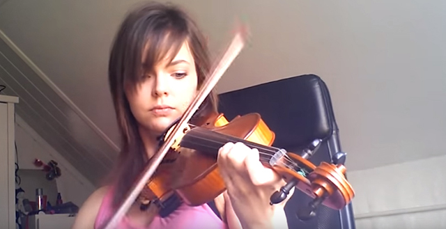 beginner violinist - 2 years progress video