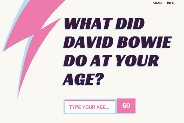 What Did David Bowie Do at Your Age?