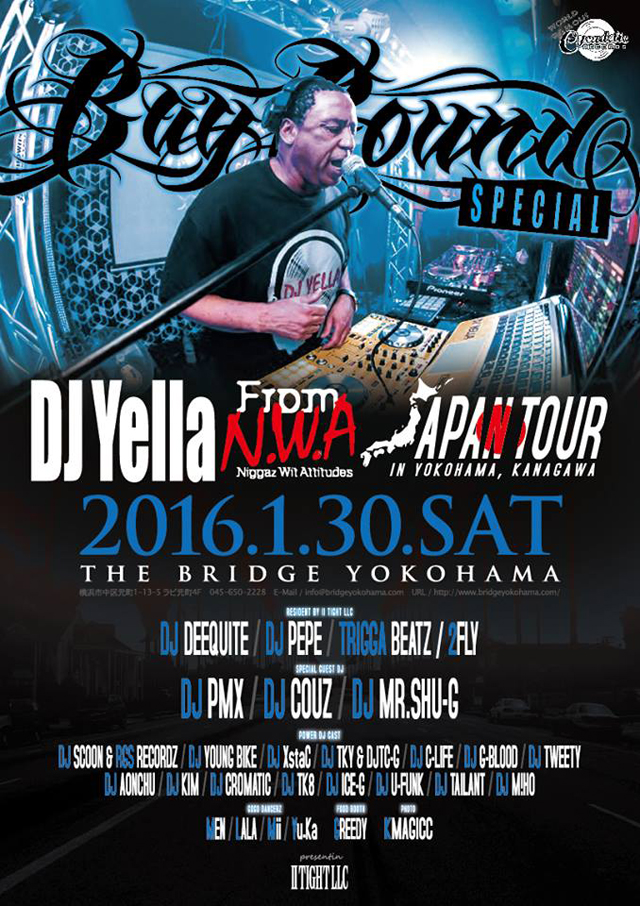 BAY BOUND -DJYELLA from N.W.A 来日公演