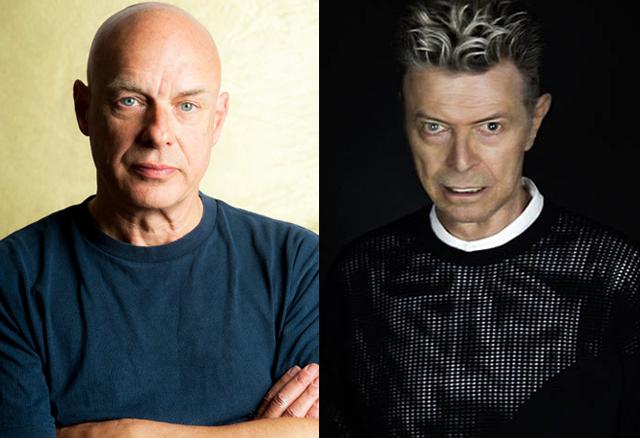 Brian Eno and David Bowie