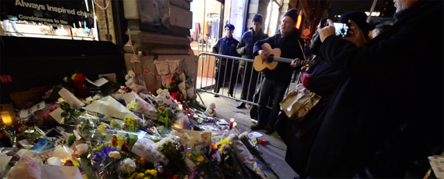 David Bowie tribute outside his New York Apartment featuring Glen Hansard