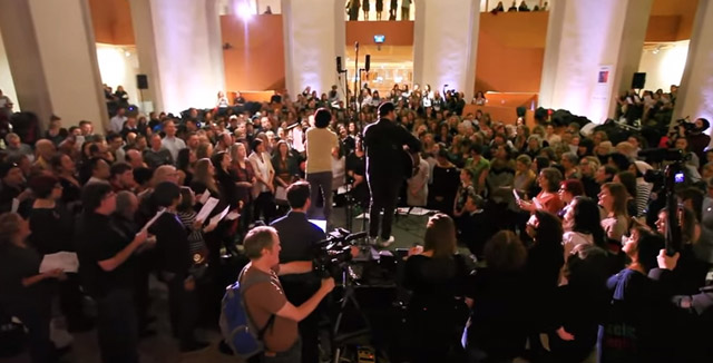 Choir! Choir! Choir! of 500+ Sings David Bowie's Space Oddity at the AGO