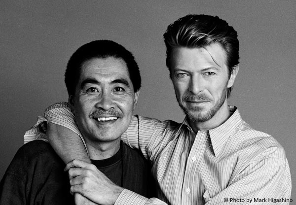 鋤田正義with David Bowie ©Photo by Mark Higashino