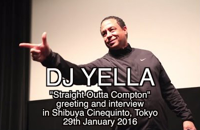 N.W.A.のDJ Yellaが映画「ストレイト・アウタ・コンプトン」の舞台挨拶in渋谷シネクイント
