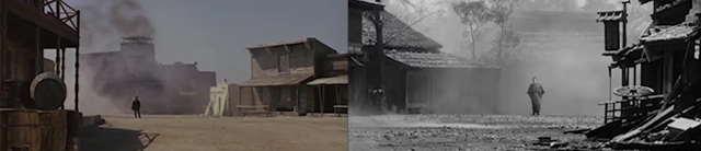 """Yojimbo"" and ""Fistful of Dollars"": Shot-by-Shot Montage"