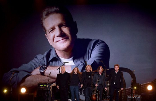 Eagles members and Jackson Browne - tribute to Glenn Frey 2016 Grammys