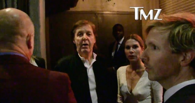 Paul McCartney Get Denied From Tyga's Grammy Afterparty