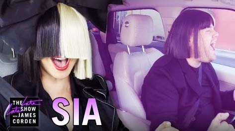 Sia Carpool Karaoke - The Late Late Show with James Corden