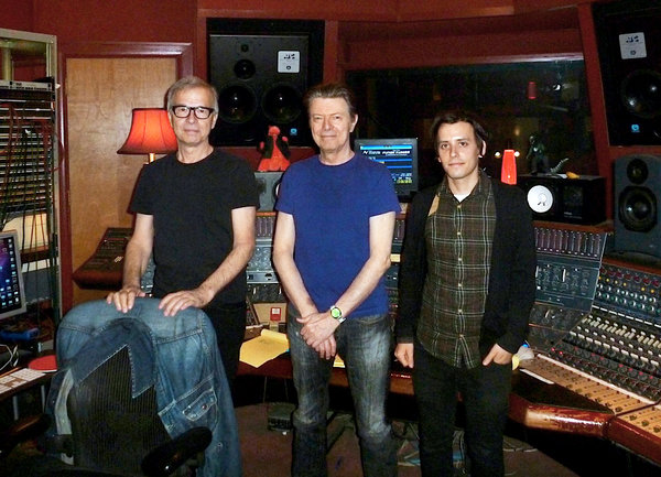 Tony Visconti, David Bowie and Brian Thorn - The Magic Shop