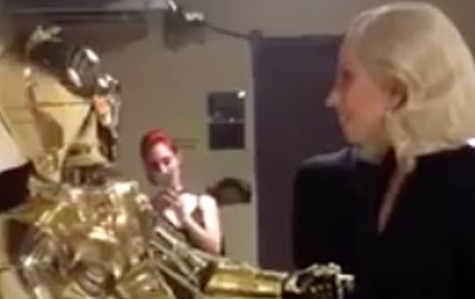 Lady Gaga meets C-3PO