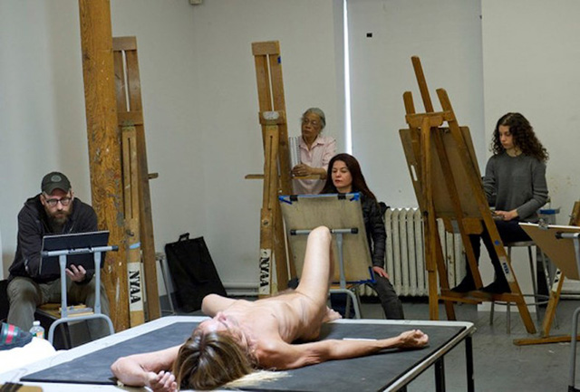 Iggy Pop - drawing class at the New York Academy of Art
