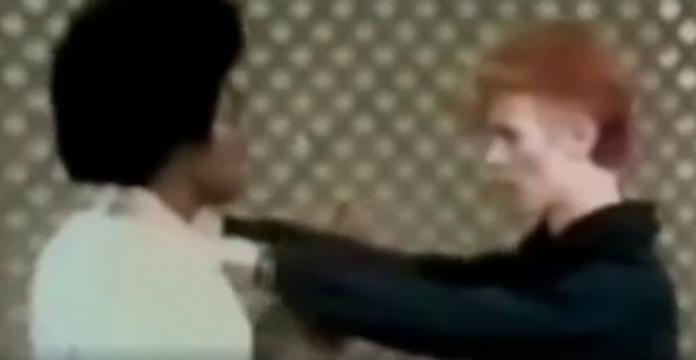 David Bowie karate lesson on live TV