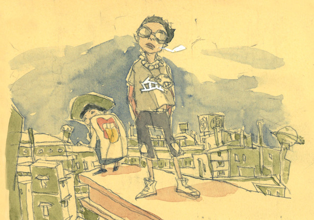 「鉄コン筋クリート ART BOOK」第3弾のサンプル (c)2006松本大洋/小学館、アニプレックス、アスミックエース、Beyond C.、電通、TOKYO MX