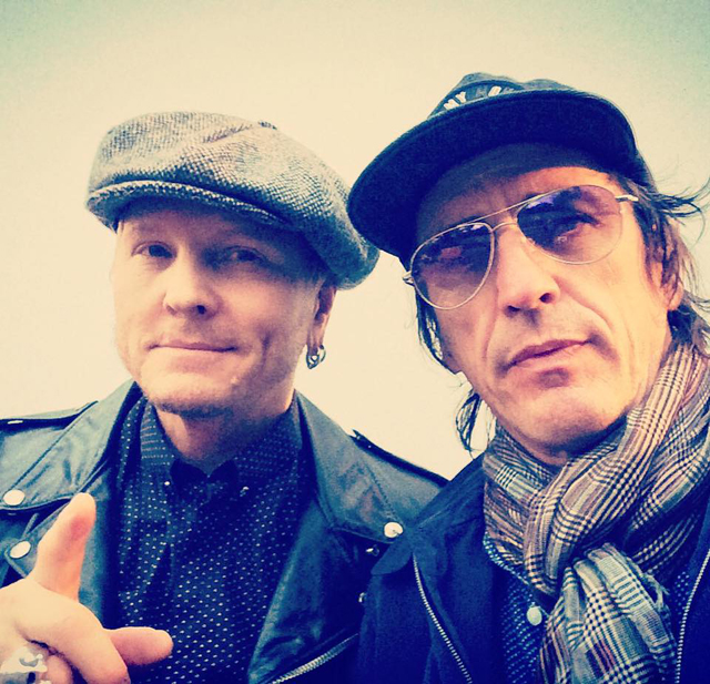 Izzy Stradlin and Matt Sorum