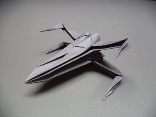 How to Fold an Origami Star Wars X,wing Starfighter