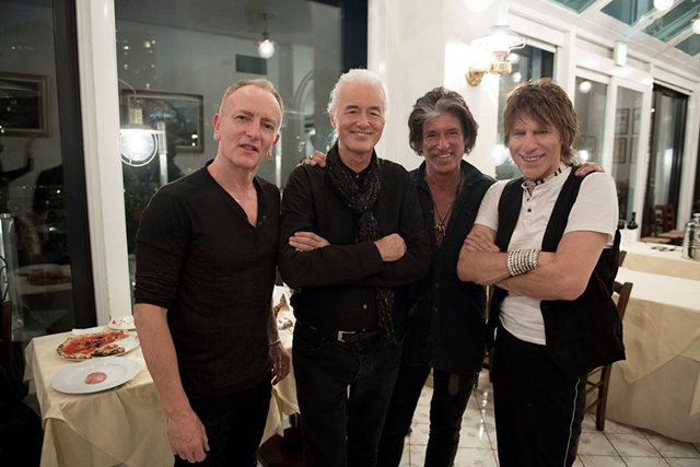 Phil Collen, Jimmy Page, Joe Perry and Jeff Beck - Photo: Ross Halfin Photography / TeamRock.com