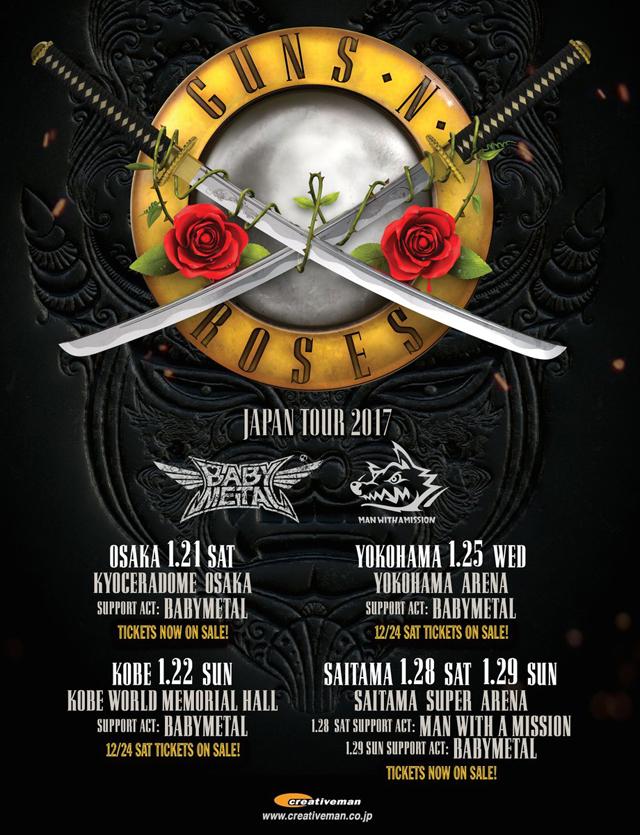 Guns N' Roses Japan Tour 2017