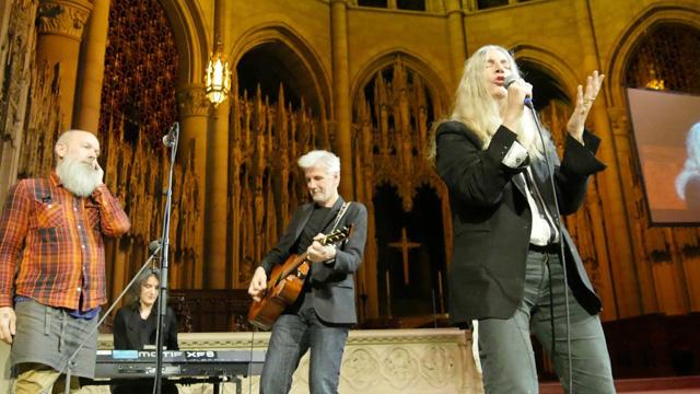 Patti Smith & Michael Stipe Perform at Democracy Now!'s 20th Anniversary