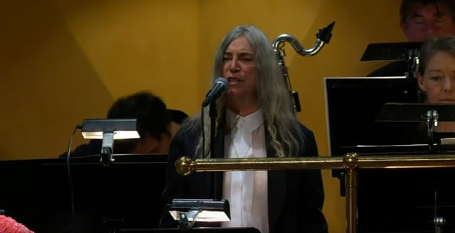 Patti Smith -  The 2016 Nobel Prize Award Ceremony