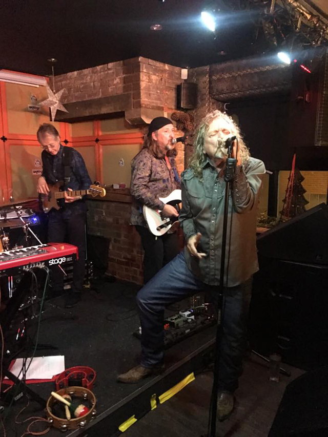 Robert Plant joined a band on stage in a pub on New Year's Eve