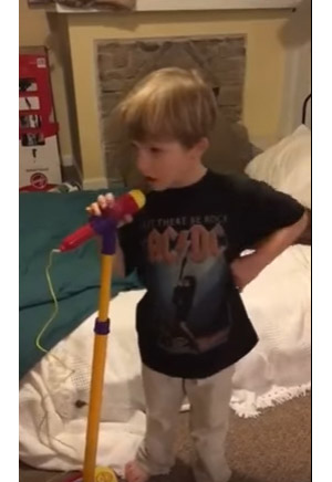 Little Kid Sings AC/DC's