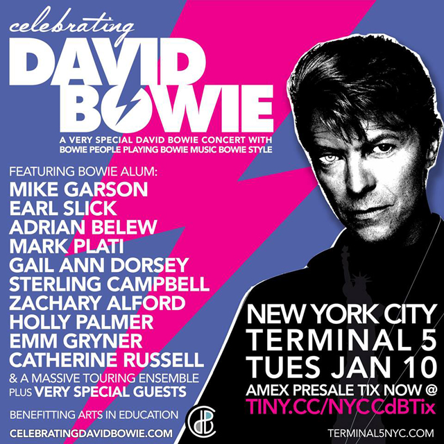 Celebrating David Bowie -  New York - Jan. 10, 2017
