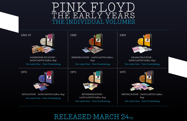Pink Floyd / The Early Years, 1965-1972: The Individual Volumes