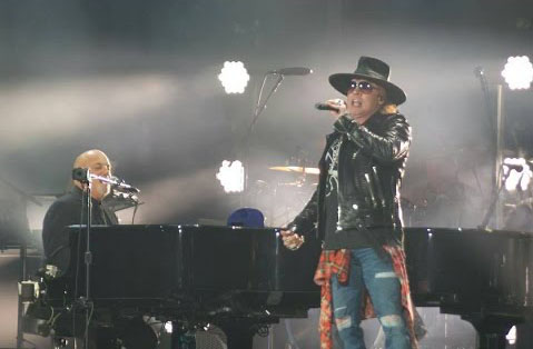 Billy Joel with Axl Rose