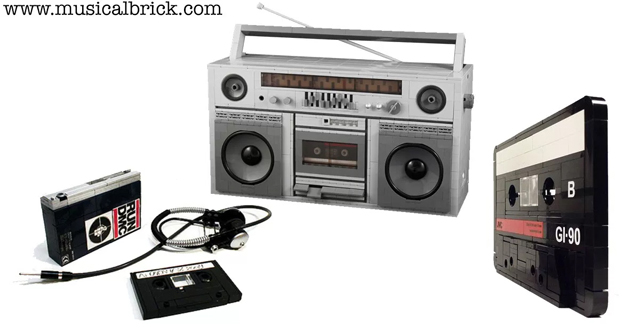 THE BEST LEGO CASSETTE PLAYERS AND WALKMANS - Musical Brick