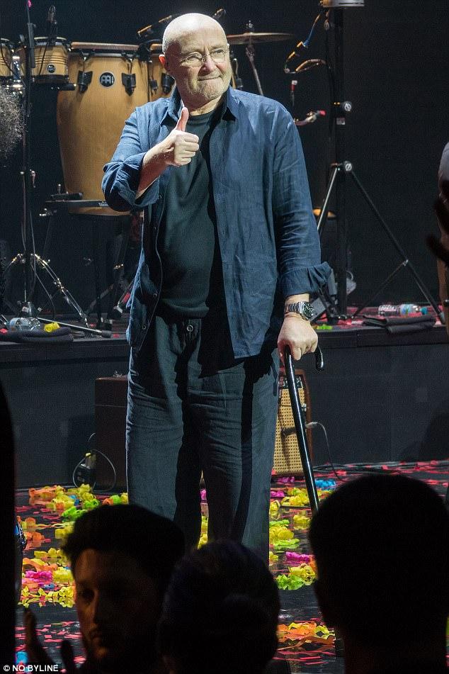 Phil Collins (c) NO BYLINE